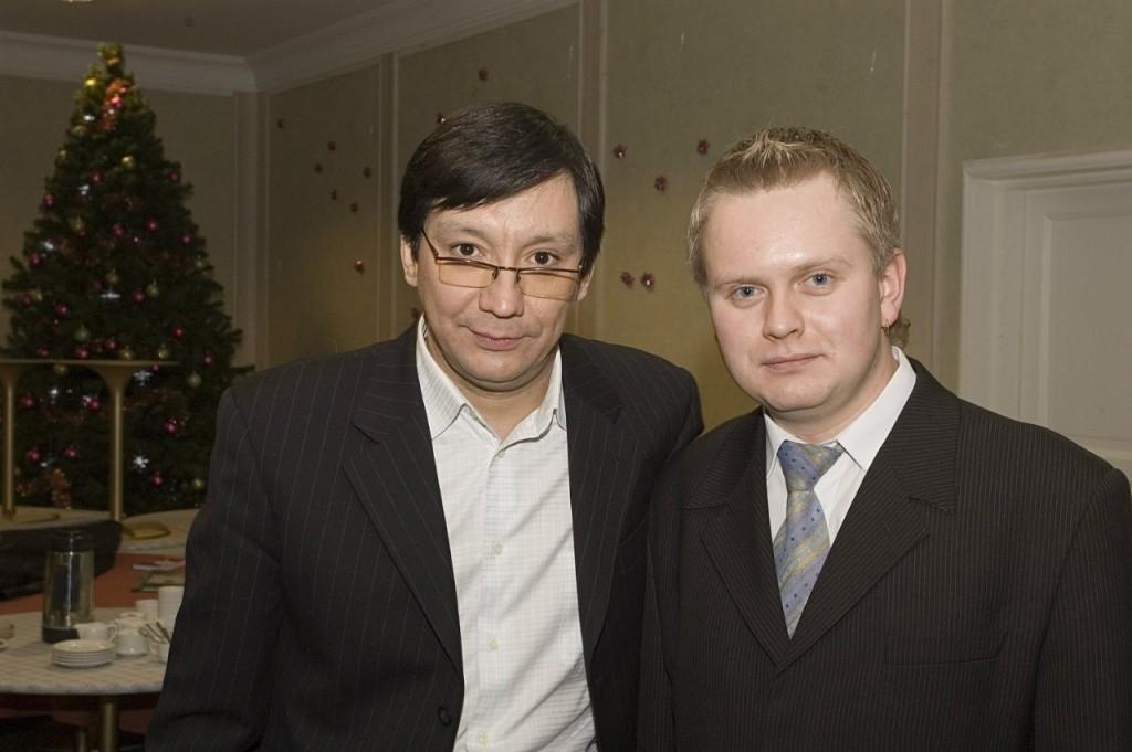 Ведущие Новогоднего Киновечера - Алексей Андрианов, Егор Кончаловский